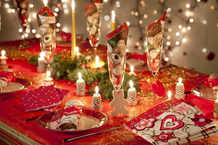 candles table decorations holidays wallpaper