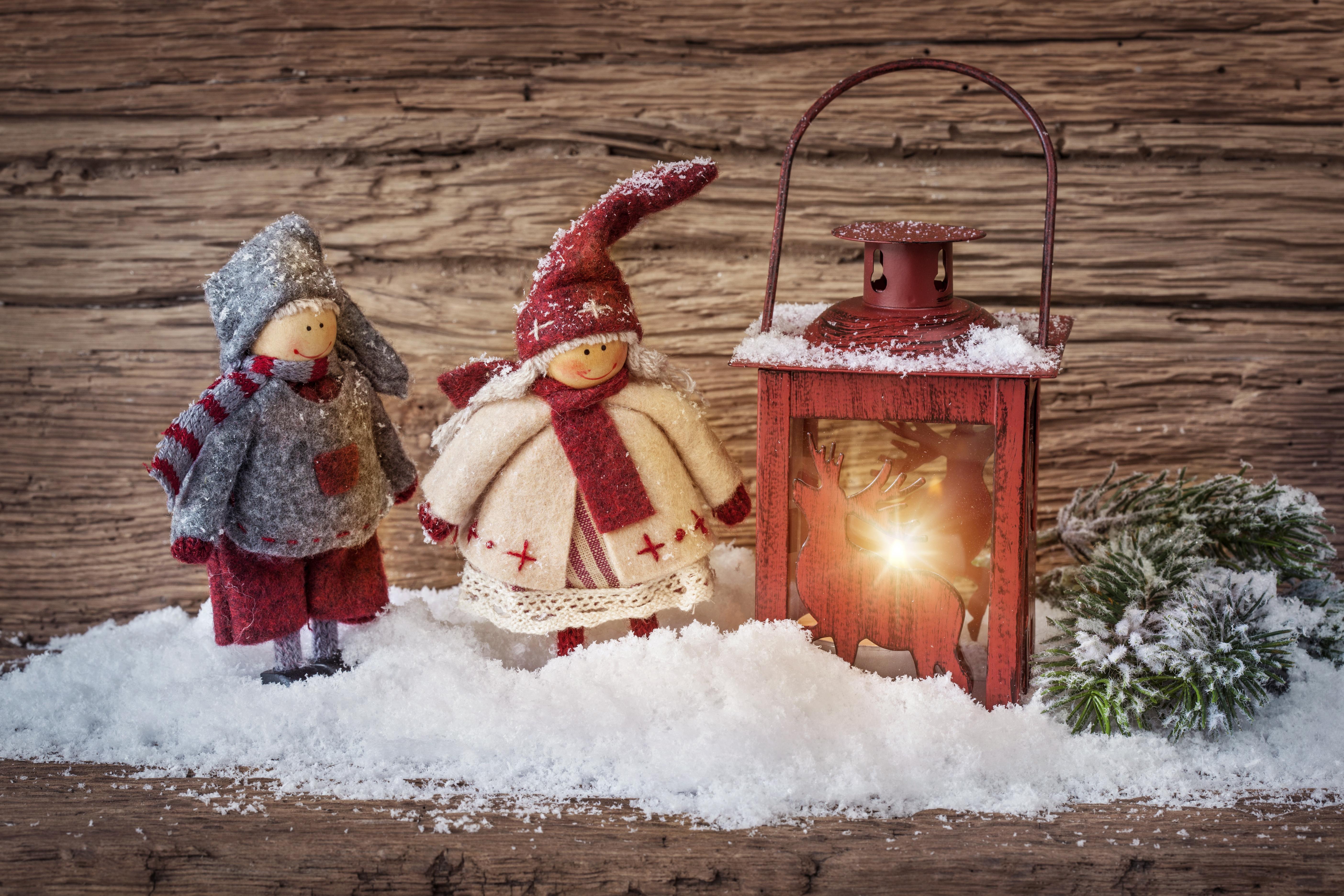 Lantern merry christmas toys snow new year new year ...