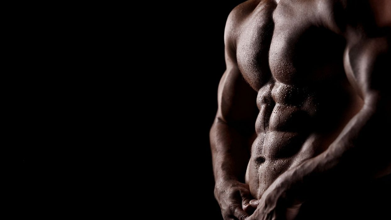 man body torso muscles cubes wet sexy wallpaper