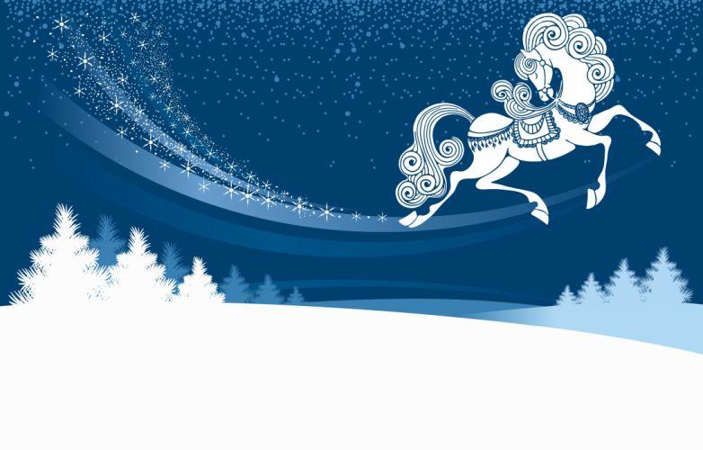 winter horse snow drift snow wallpaper