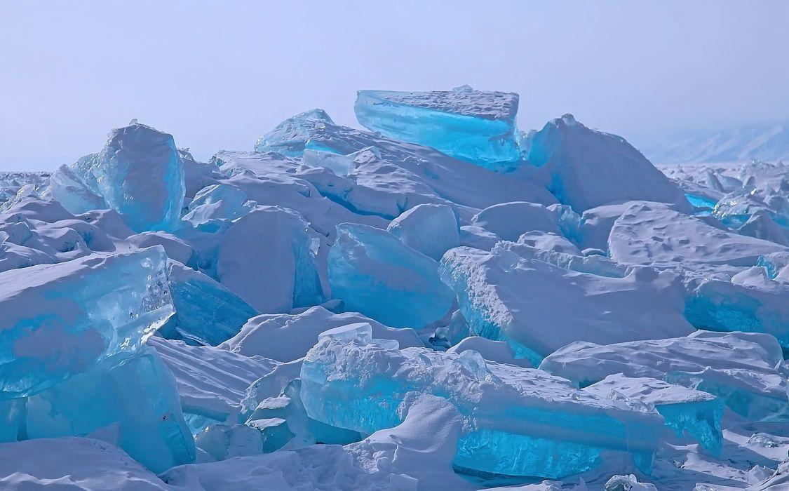 winter ice snow lake wallpaper