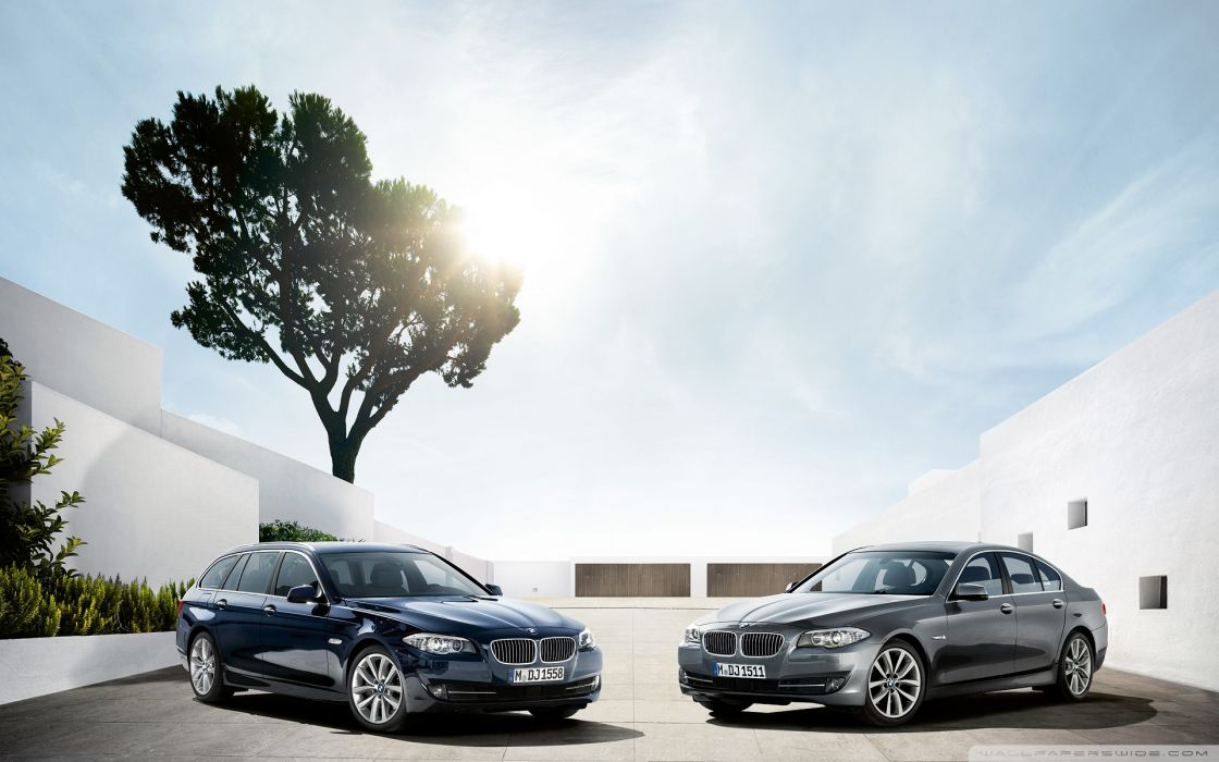 two bmw 5 series touring f11 and f10-wallpaper-1920x1200 wallpaper