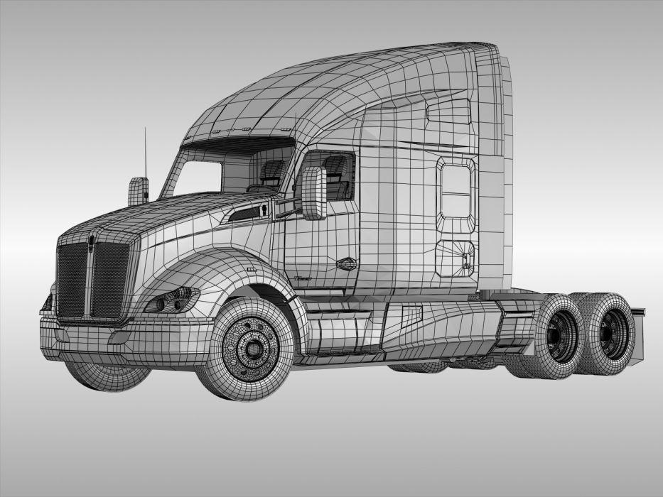 kenworth semi tractor wallpaper