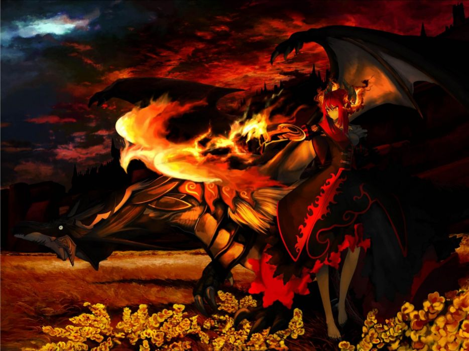 Phoenix Flame Anime original wallpaper