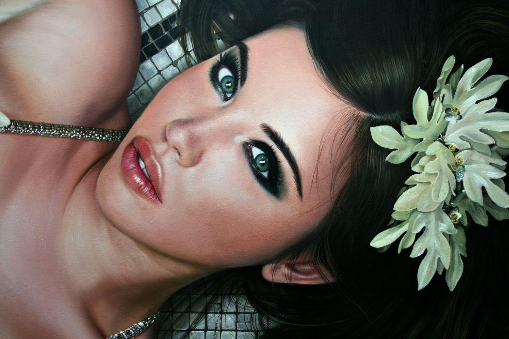 Christiane Vleugels Face Glance Fantasy Girls look wallpaper