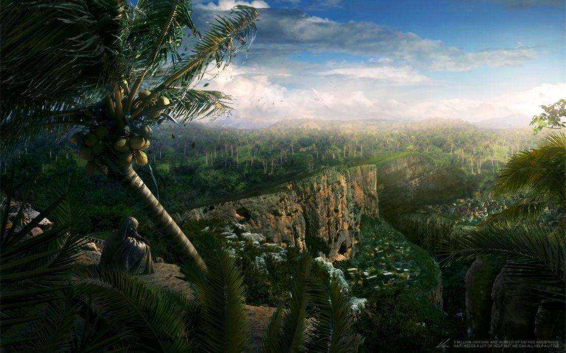 Fantastic world Fantasy landscape wallpaper
