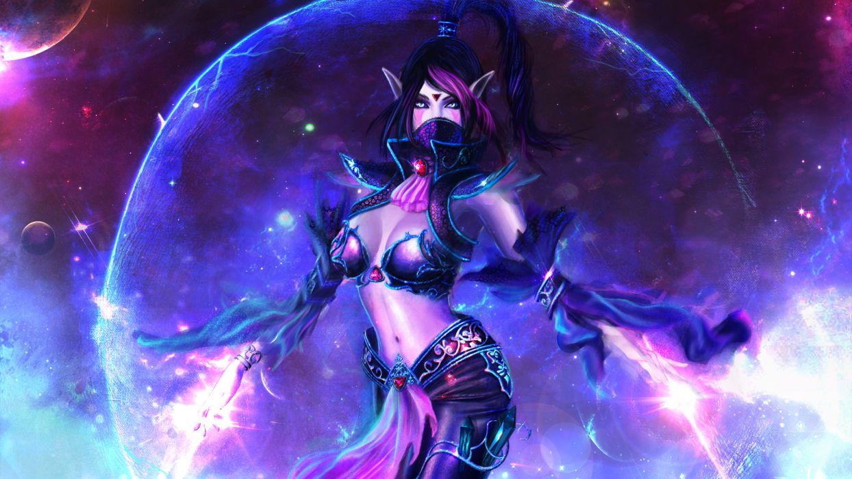 Magic DOTA 2 Templar Assassin Lanaya Warrior Games Girls Fantasy wallpaper
