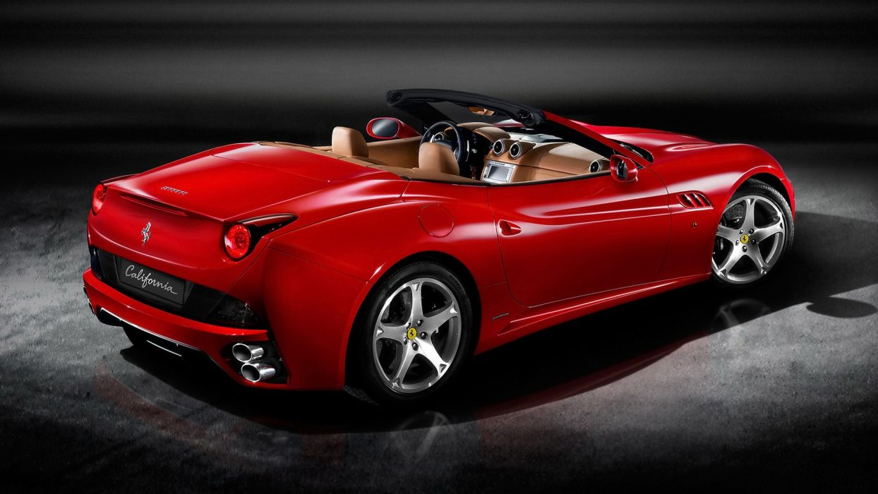 red cars Italy Ferrari California wallpaper
