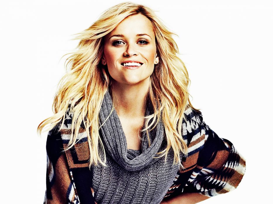 blondes women American actress celebrity Reese Witherspoon smiling wallpaper