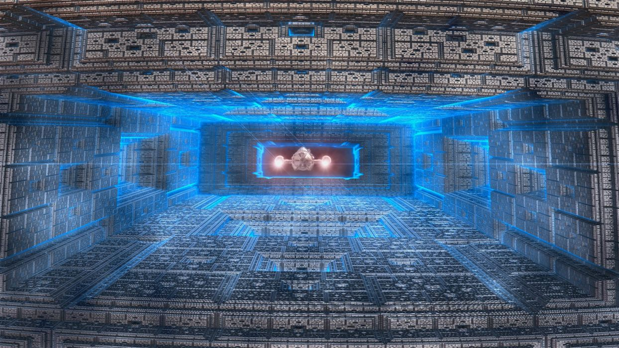 abstract outer space fractals fantasy art spaceships digital art travel space wallpaper