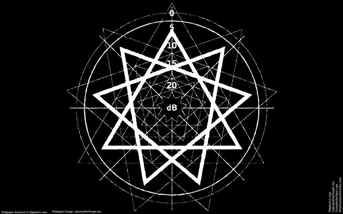 black dark pentagram slipknot wallpaper