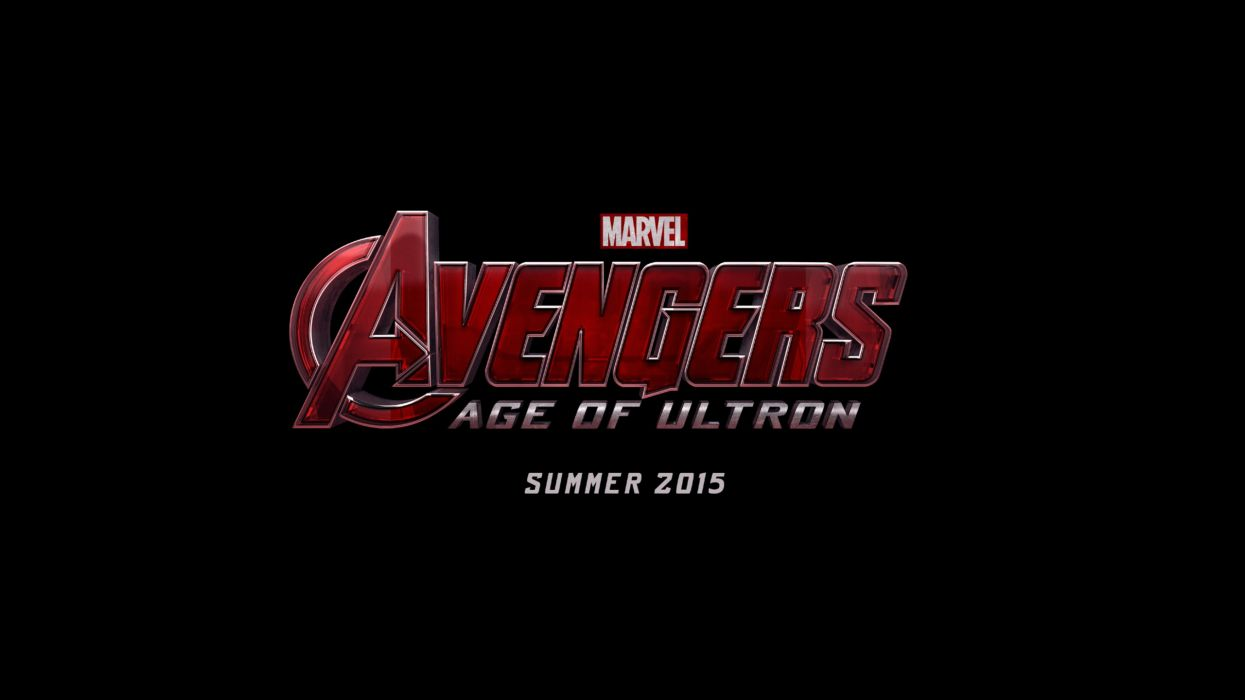 movies Marvel Comics The Avengers logos black background Avengers 2: Age of Ultron wallpaper