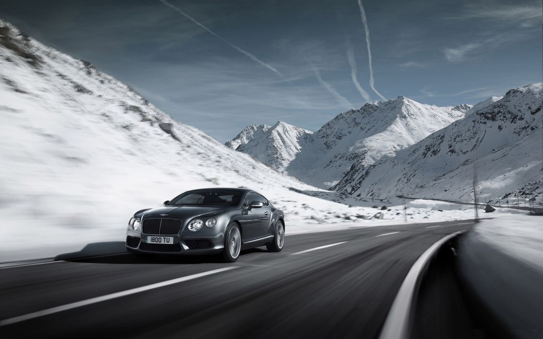 winter Bentley Continental wallpaper