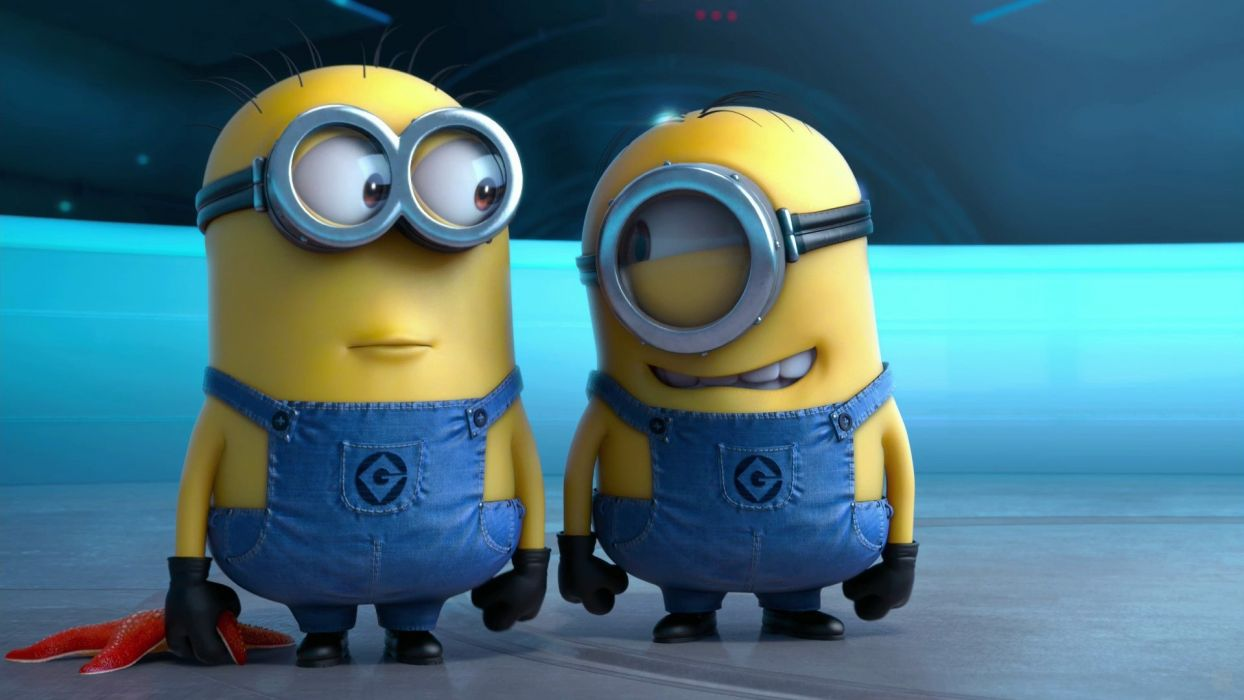 movies film Despicable Me smiling minions overalls wallpaper