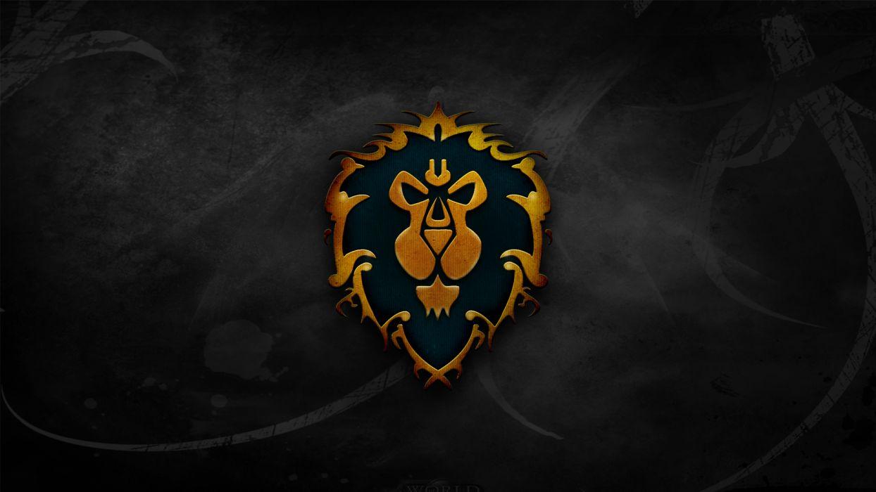 World of Warcraft crest lions Alliance wallpaper
