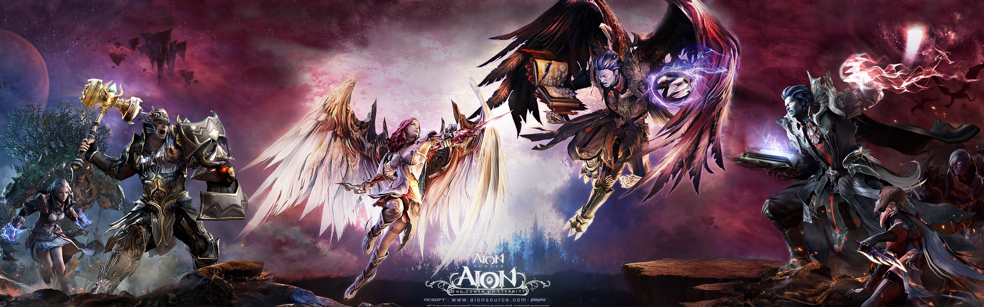 Tower Dual Screen Aion Wallpaper