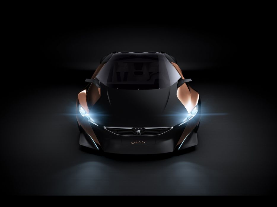 studio concept art supercars headlights designed Peugeot Onyx wallpaper
