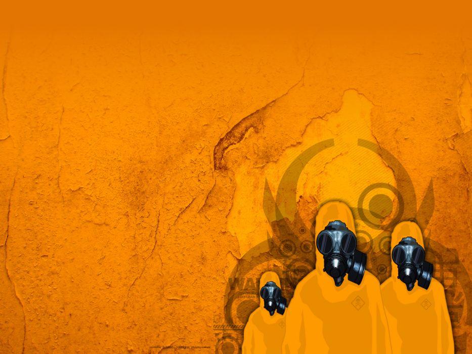 military biohazard gas masks artwork biohazard zero wallpaper