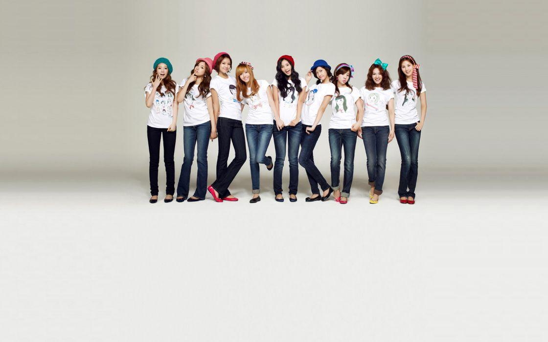women jeans Girls Generation SNSD celebrity Korean K-Pop wallpaper