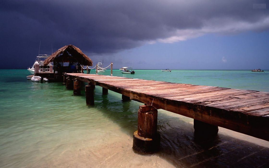 point piers islands pigeons vacation Tobago sea wallpaper