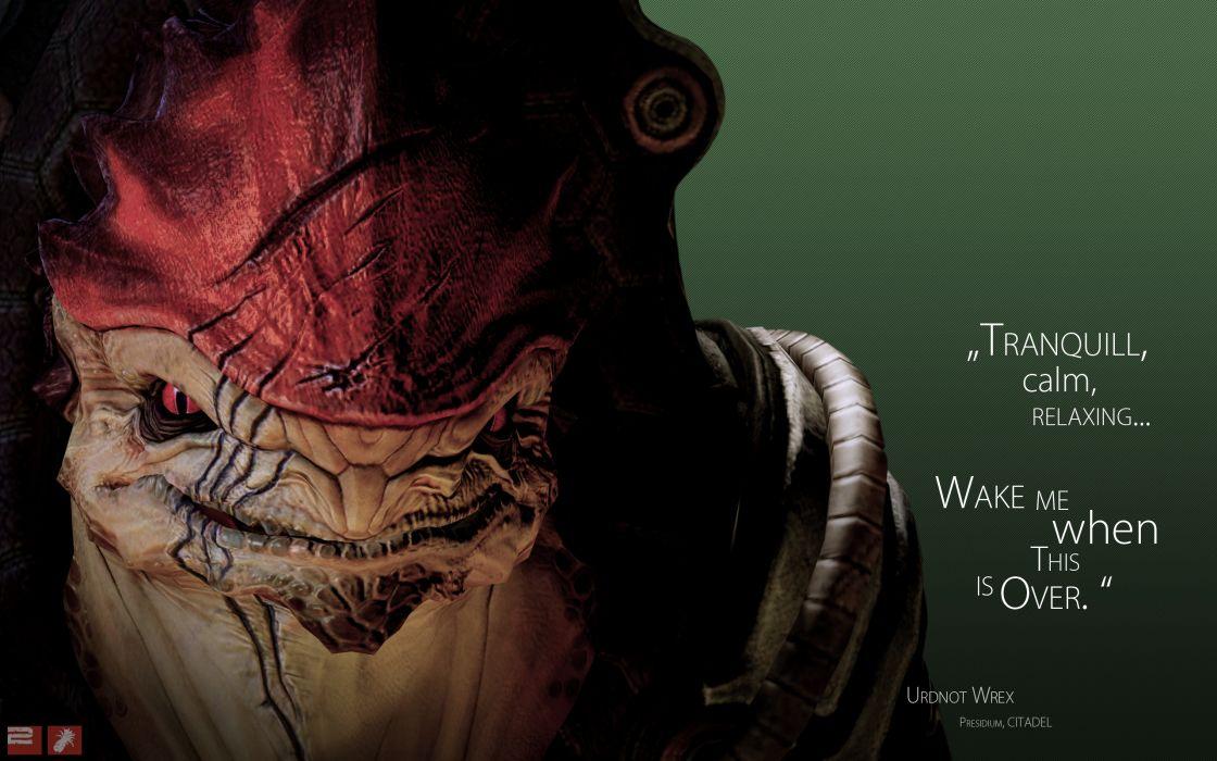 quotes Mass Effect Mass Effect 2 krogan Wrex wallpaper