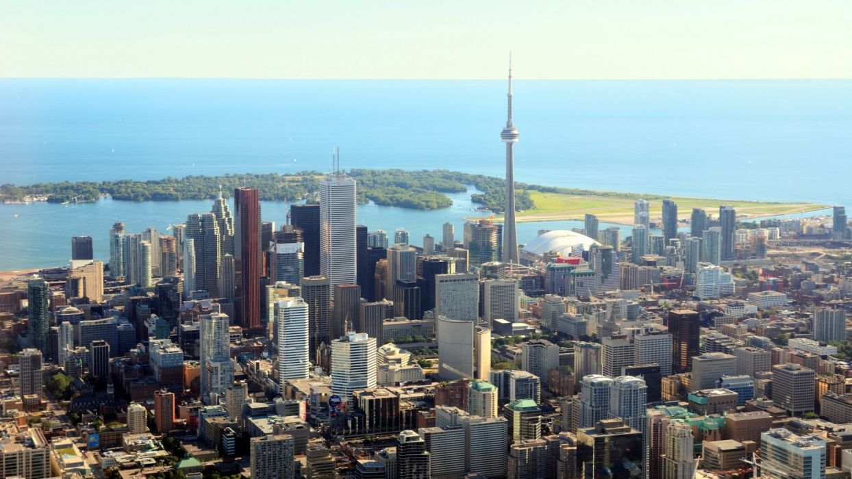 cityscapes towns skyscrapers Toronto city skyline cities wallpaper