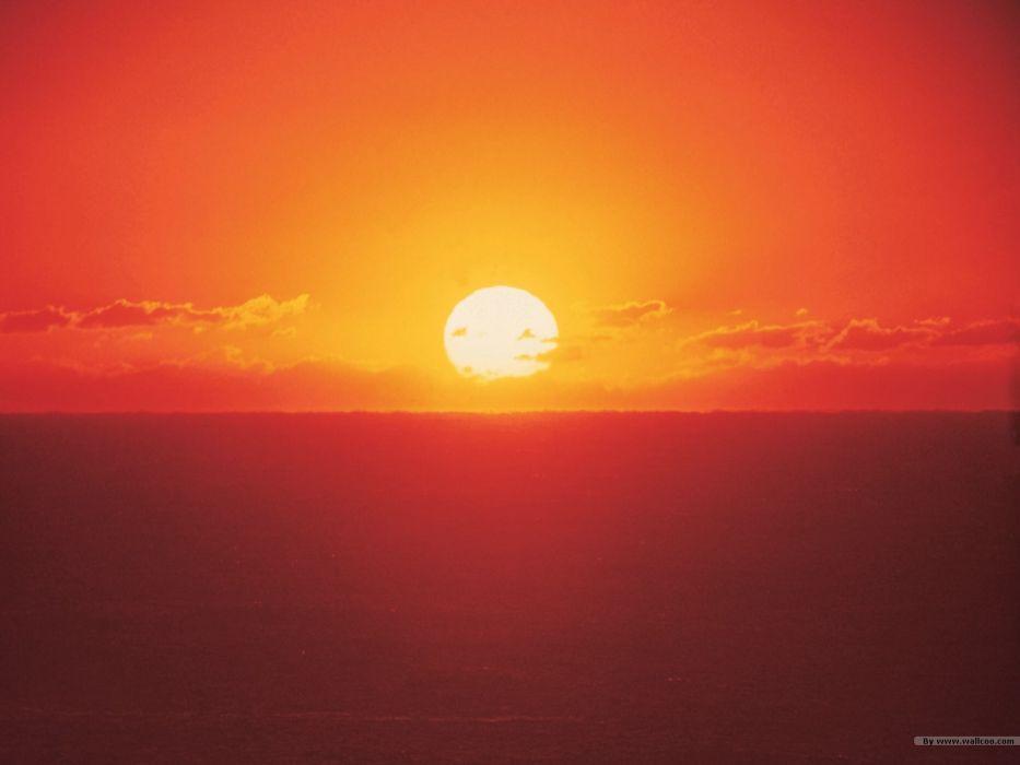 sunset nature evening wallpaper