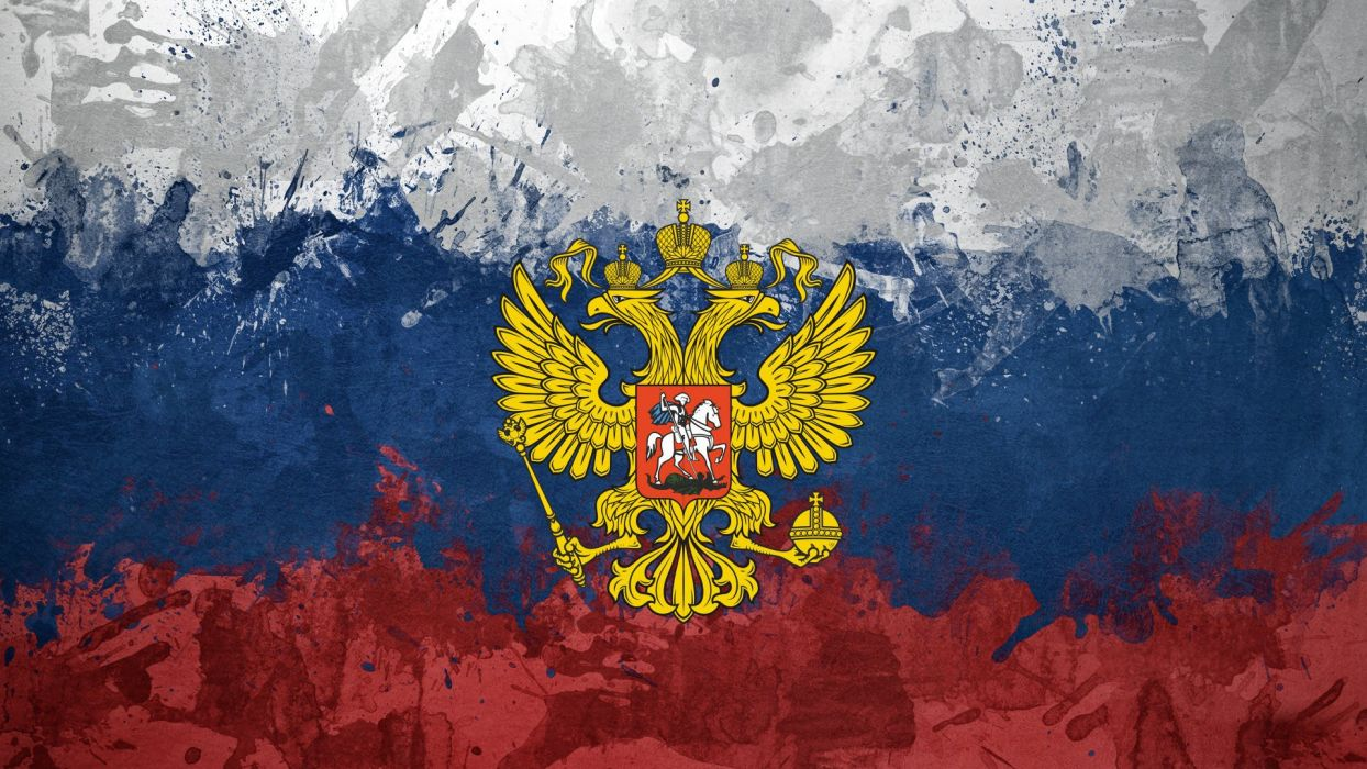 Russia eagles flags emblems Russian Federation Russian flags wallpaper