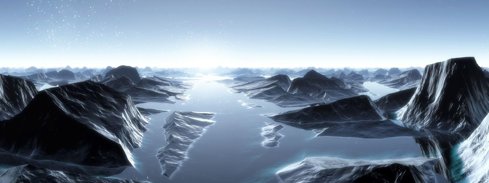 landscapes CGI wallpaper