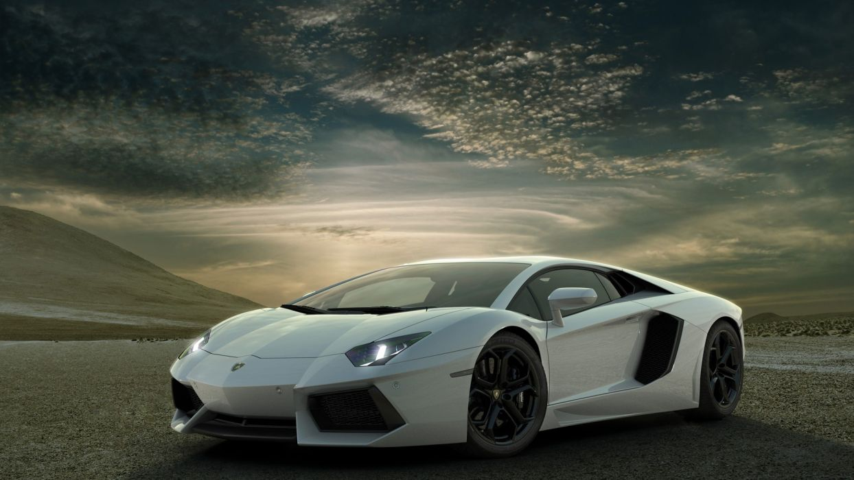 cars Italian vehicles supercars wheels Lamborghini Aventador white cars races racing cars speed automobiles wallpaper