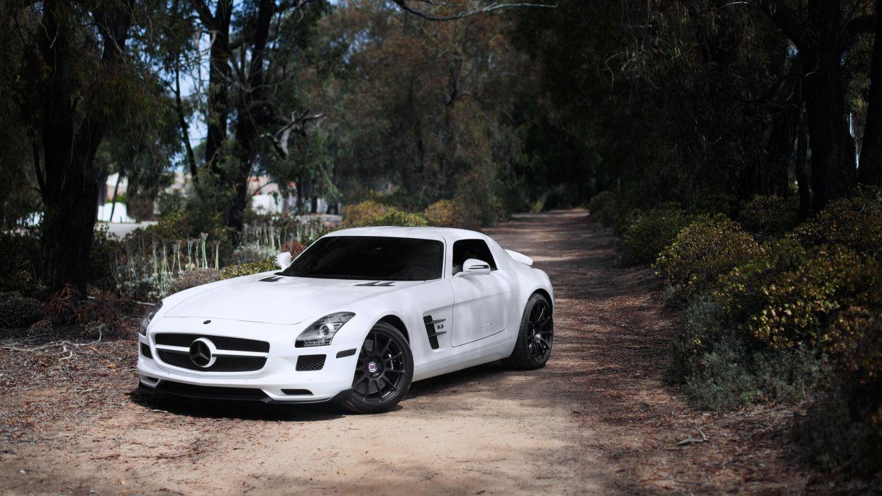 cars white cars Mercedes Benz Sls Amg wallpaper