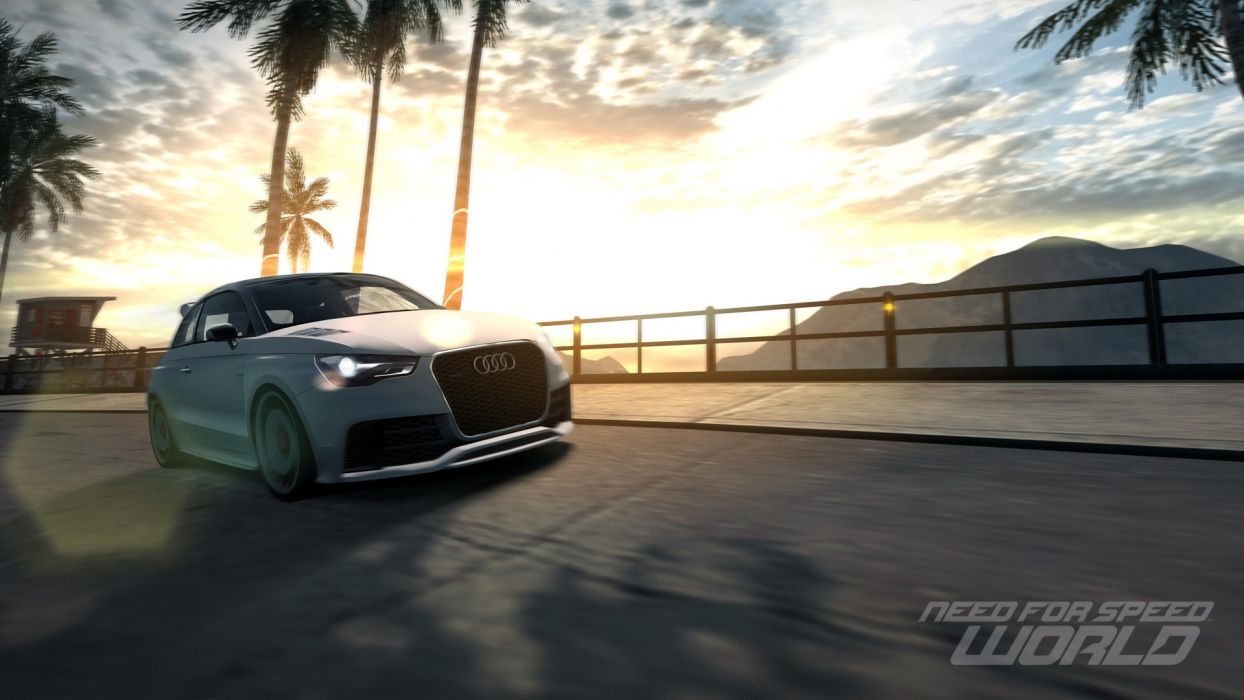 video games cars Audi A1 Audi A1 Clubsport Quattro Need for Speed World games pc games wallpaper