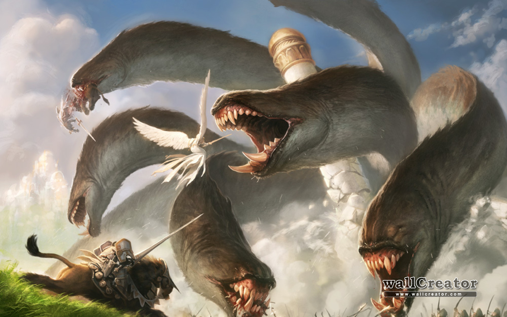 Castles monsters knights blood Magic: The Gathering destruction ...