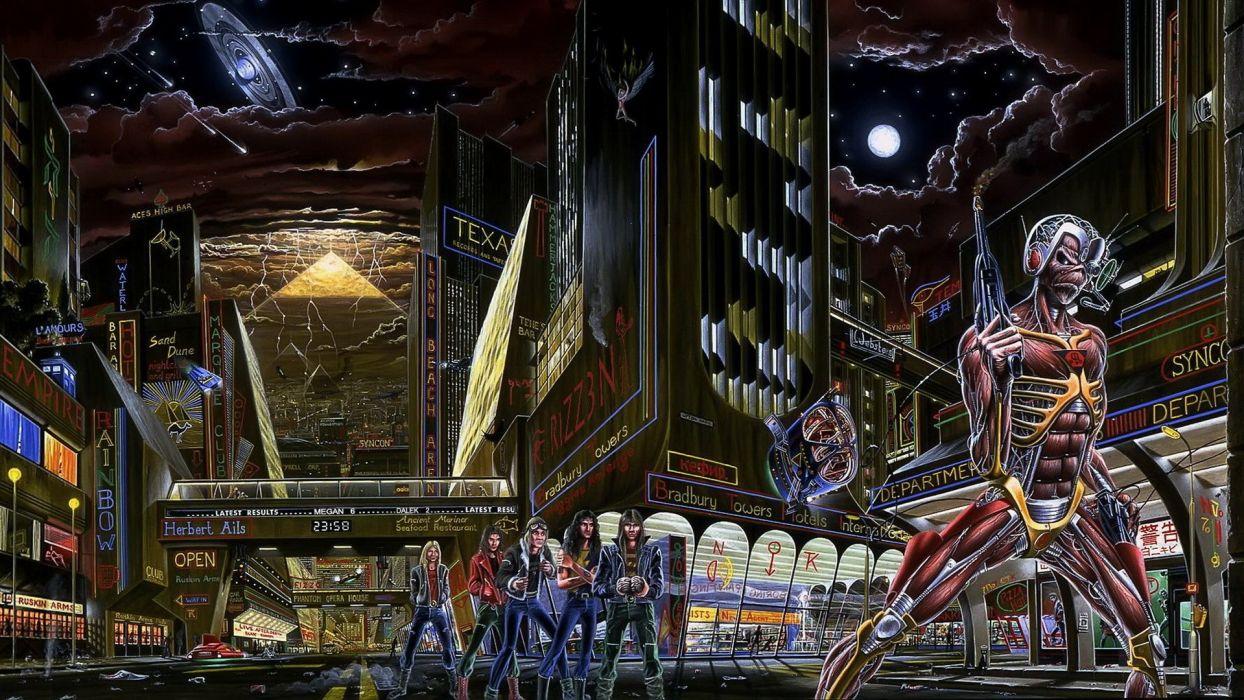 music Iron Maiden musicians wallpaper