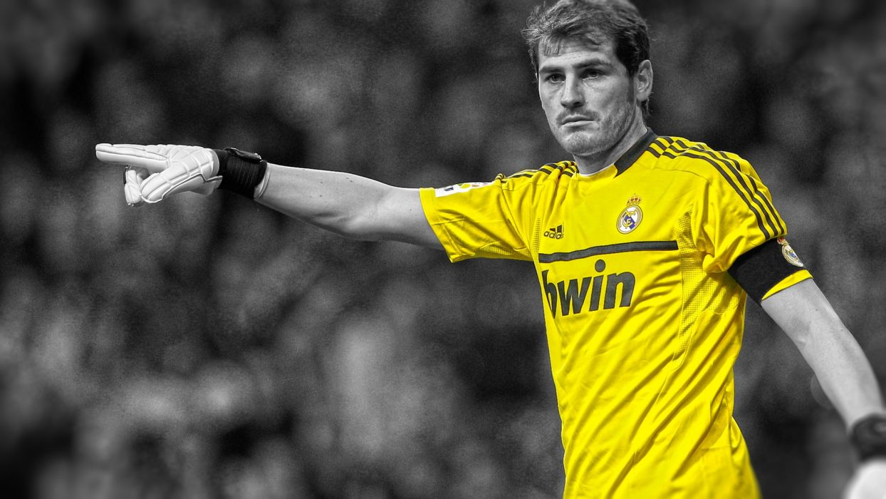 soccer Real Madrid Iker Casillas HDR photography cutout wallpaper