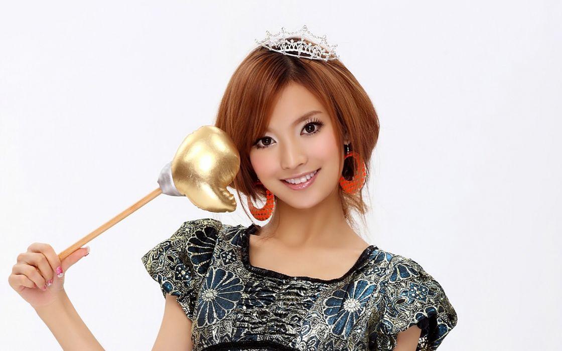 women dress redheads Asians white background wallpaper