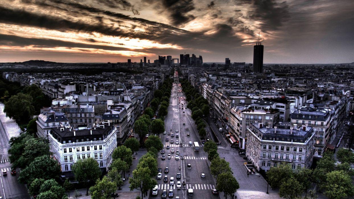 Paris cityscapes urban wallpaper