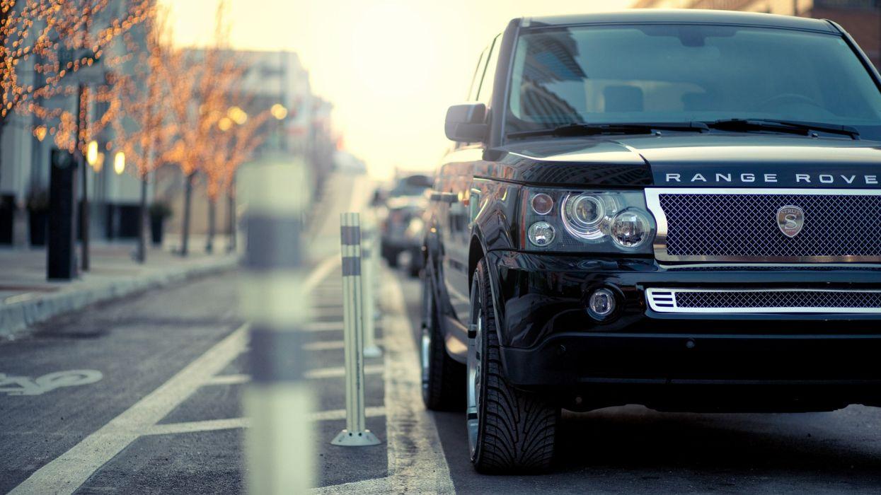 cityscapes streets cars bokeh Range Rover wallpaper