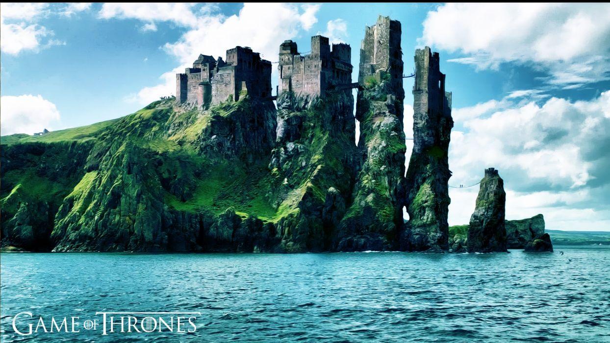 artwork Game of Thrones HBO Pyke skies iron islands wallpaper