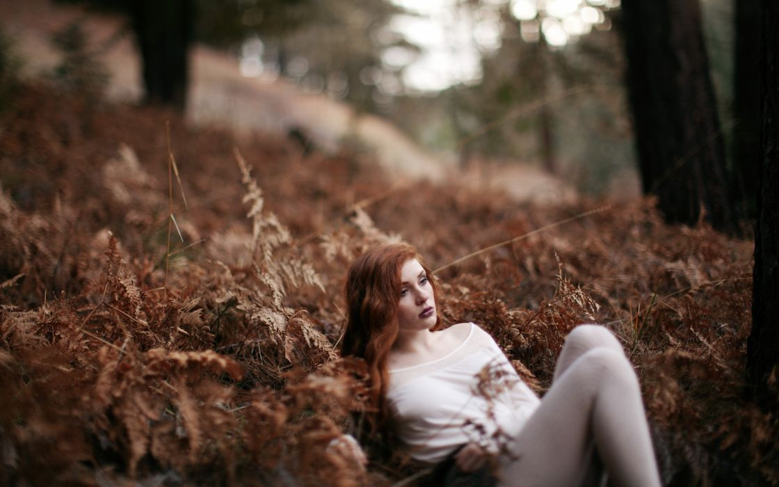 women forests redheads models wallpaper