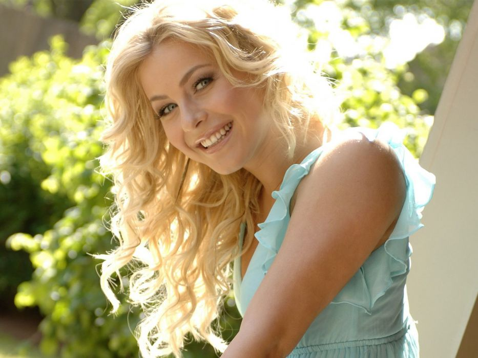 blondes women Julianne Hough smiling faces wallpaper