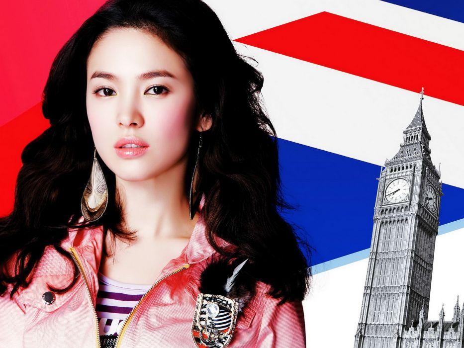 women models Asians Korean song hye kyo wallpaper