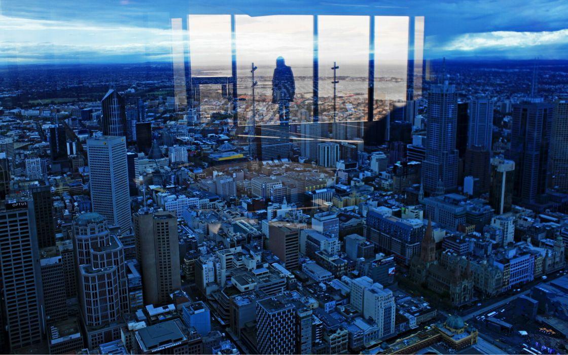 urban reflections wallpaper