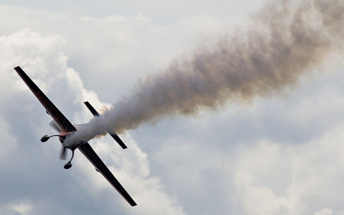 aircraft smoke contrails wallpaper