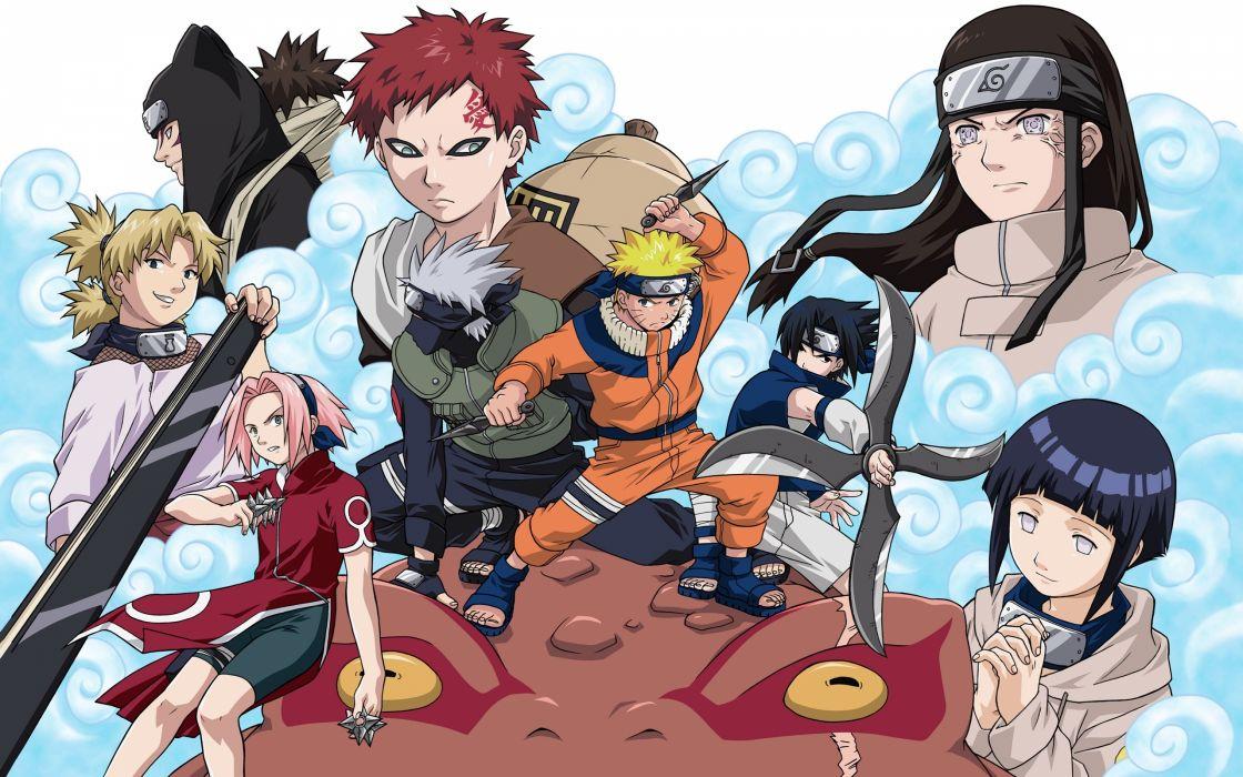 Haruno Sakura Uchiha Sasuke Temari Naruto: Shippuden Hyuuga Hinata Hyuuga Neji Gaara Uzumaki Naruto Kakashi Hatake Kankuro wallpaper