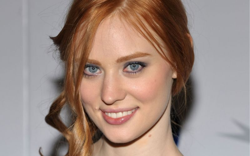 women close-up blue eyes actress redheads Deborah Ann Woll wallpaper