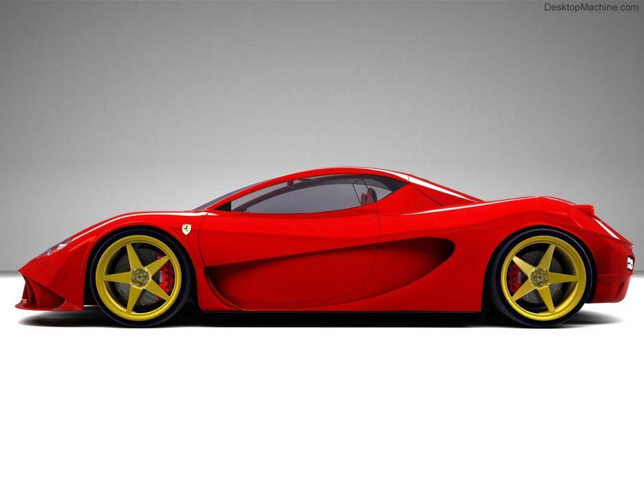 cars Ferrari side view Ferrari Aurea DGF Design wallpaper