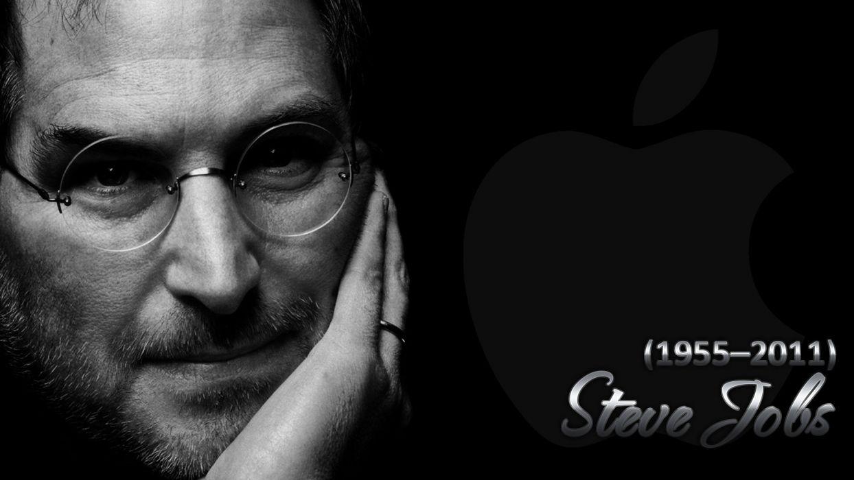 black computers Apple Inc_ Mac Steve Jobs apple world wallpaper