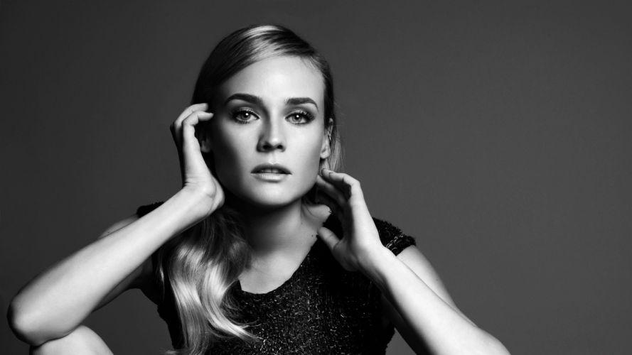 women Diane Kruger models wallpaper