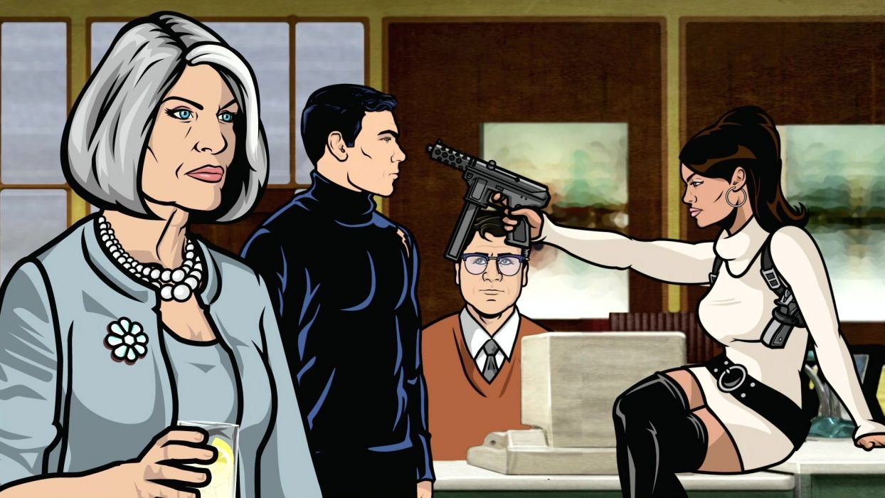 Sterling Archer Archer (TV) Lana Kane Malory Archer wallpaper